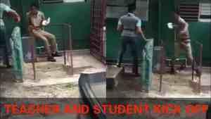 Video: Female Teacher gets Attacked by School Boy in Jamaica