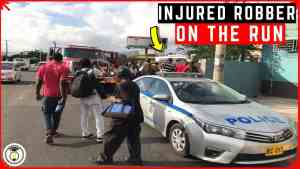 Wounded Robber on the Run After Being Shot in HWT