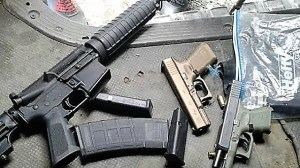 Police Seized Illegal Guns at Standpipe Area – Bushmaster, Glocks