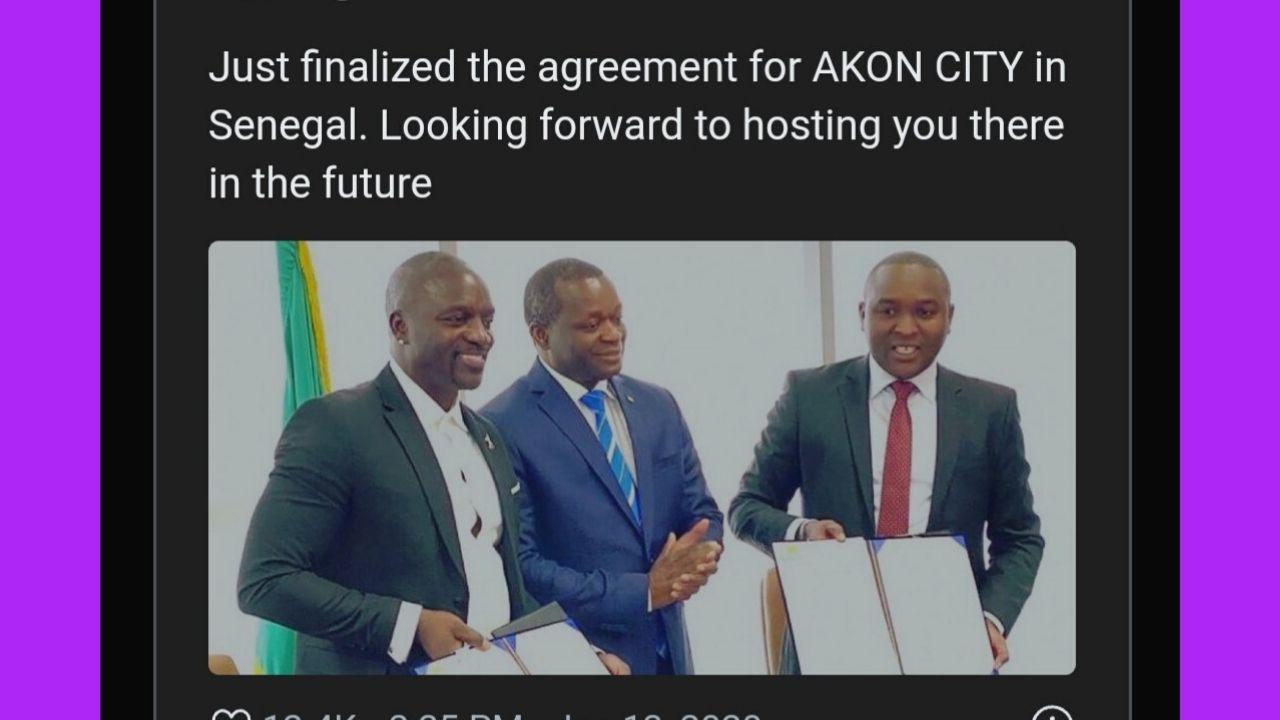 Akon building his own city in Senegal