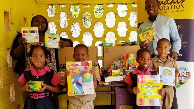 Sandals Foundation/Sandals South Coast give back to schools in celebration of Valentines Day