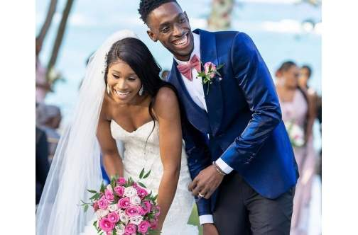 Olympians tied the knot
