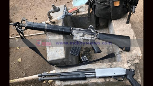 Assault Rifle, Shot Gun and Ammunition Seized in St Andrew