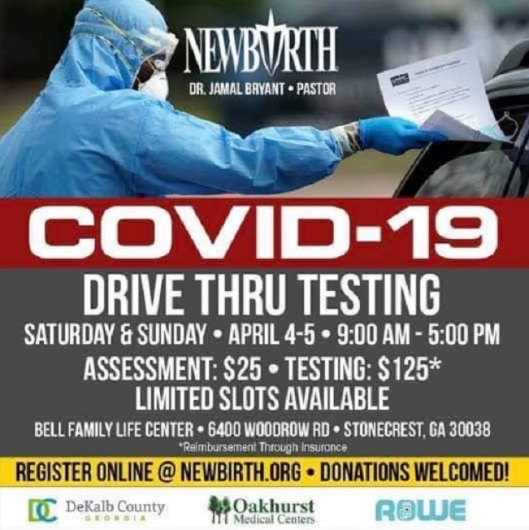Pastor Jamal Bryant offers 1,000 COVID-19 tests to minorities for $150 each, then postpones event