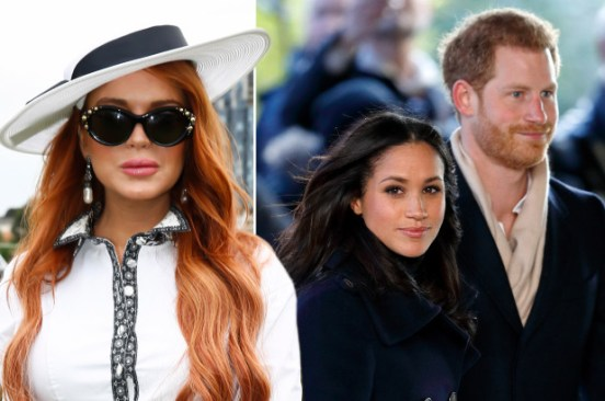Lindsay Lohan gives paparazzi advice to Meghan Markle and Prince Harry