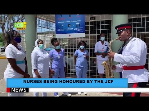 Nurses Being Honoured By The JCF