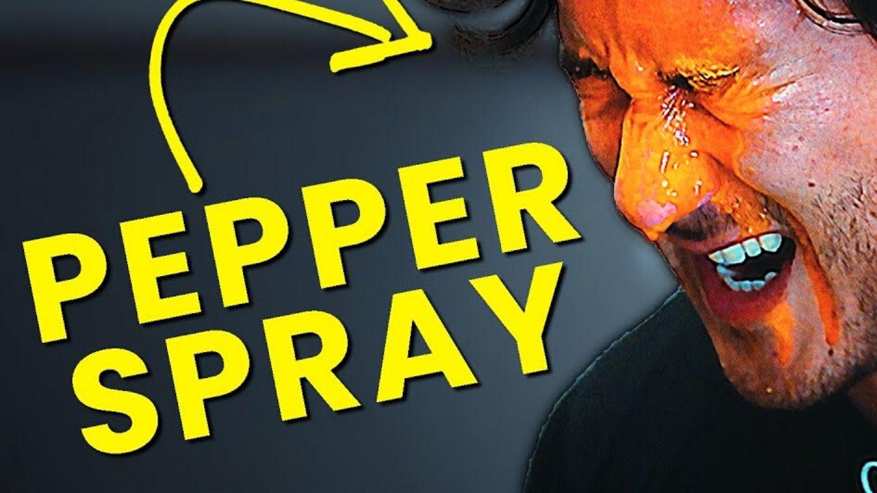 Motorist pepper-sprayed in front of children