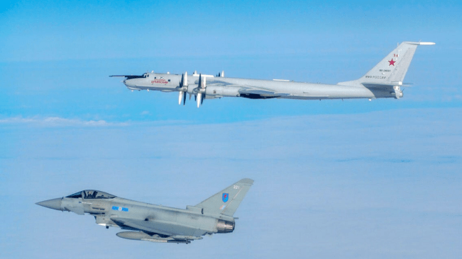 Royal Air Force Typhoon Fighters Scrambled to Intercept Russian Planes in the Baltic Sea