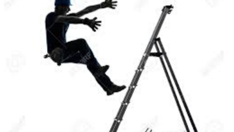 Man dies after fall from ladder