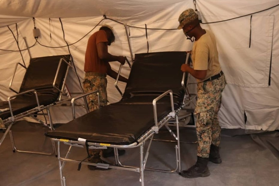 JDF completes COVID-19 field hospital at National Chest
