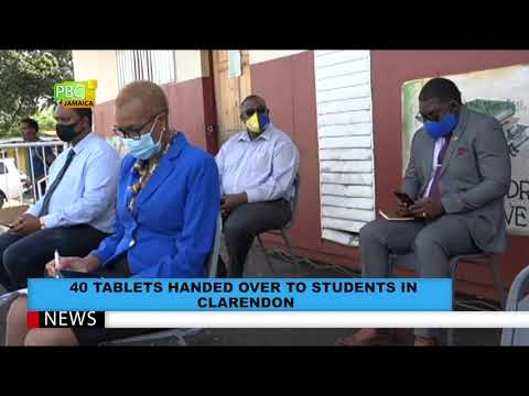 40 TABLETS HANDED OVER TO STUDENTS IN CLARENDON