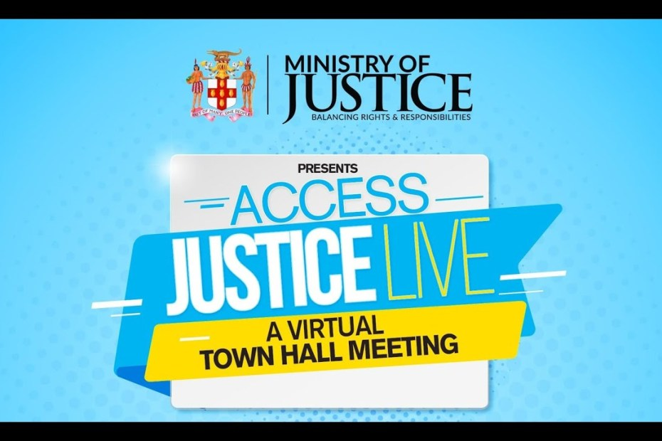 Ministry of Justice | Access Justice Live – Virtual Town Hall Meeting | #RestorativeJustice