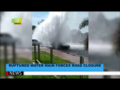 Ruptured Water Main Forces Road Closure
