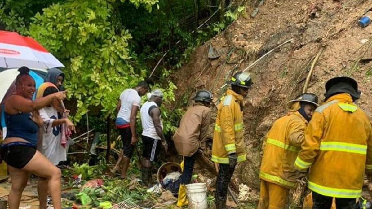 Search continues for girl after father dies in landslide