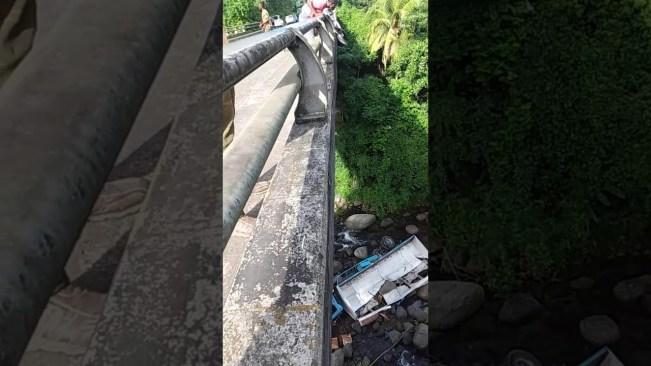Video: Truck plunge kills 2