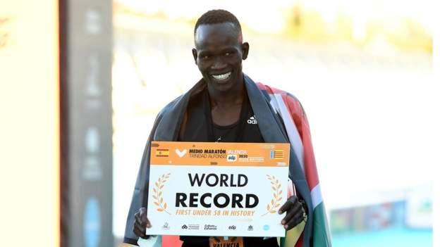 Kenya's Kibiwott Kandie smashes Half Marathon World Record