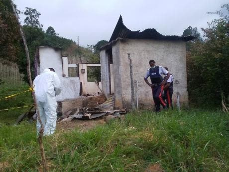 Bodies discovered in burnt-out house