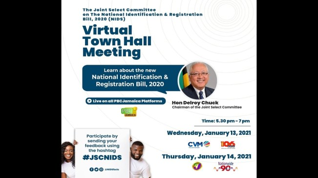 National Identification & Registration Bill (2020) Virtual Town Hall Meeting – January 13, 2021