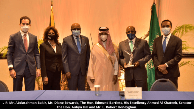 Minister Hill Hosts Bilateral Meeting with Tourism Minister of Saudi Arabia