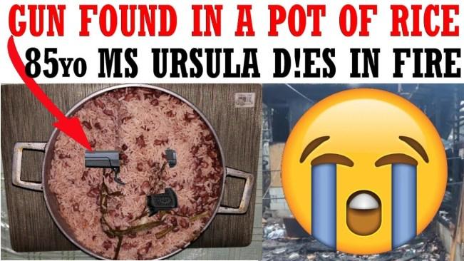 Mobay Cops found gun in a pot of rice