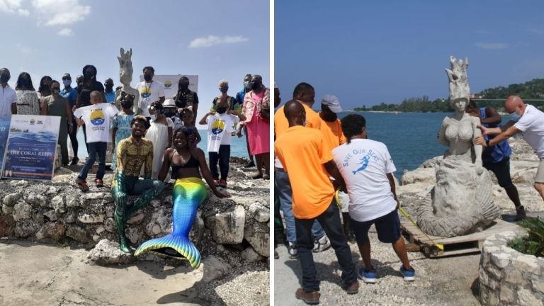 Montego Bay Marine Park unveils mermaid scultupre