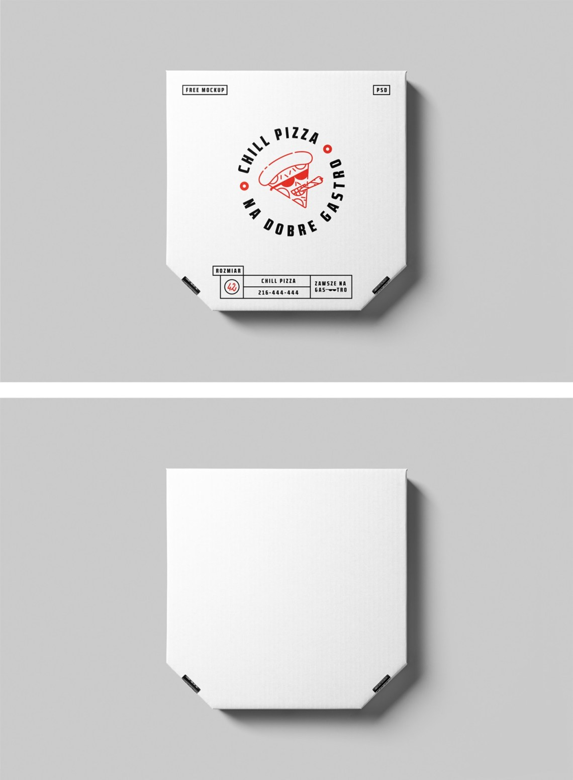 Download Pizza box Mockup - Free Mockup Download