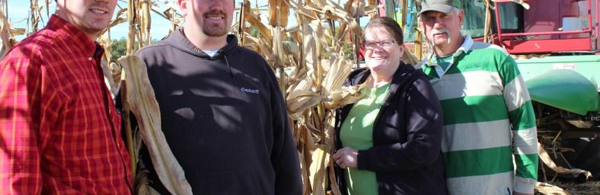 Farm Family, White Corn, Combine