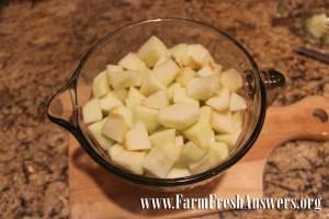 Diced apples