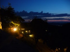 The last glimpse of sunset in Eisenach