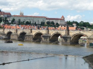 The Charles Bridge, looking at Prague Castle