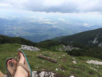 At the top of the Untersburg, but...