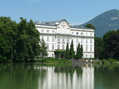 Leopoldskron Palace, the exterior back of the von Trapp family house