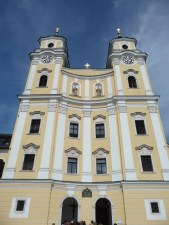 The Mondsee Cathedral, where Maria and the Captain were married in the movie