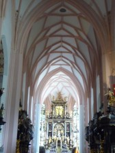 The interior of Mondsee Cathedral