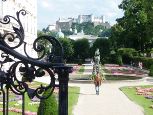 Mirabell gardens from the top of the Do-Re-Mi steps