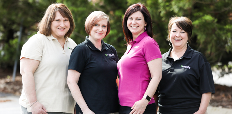 Our Pharmacy Techs from left to right:  Pam Blanton, CPhT, Alicia Alston CPhT., Rachel Godfrey, CPhT and Debbie Owensby, CPhT.