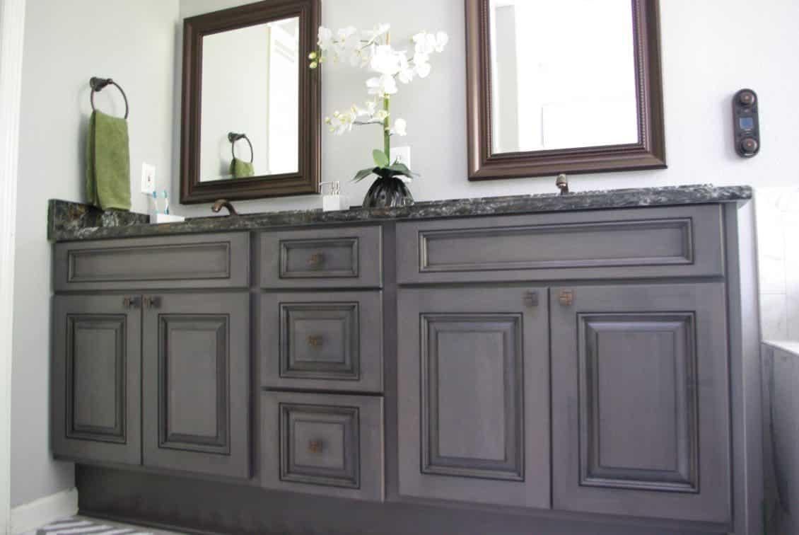 Great After Bathroom Vanity Refacing Images