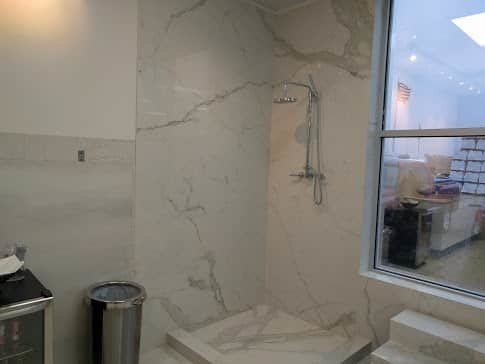 Lovely Large Porcelain Tile Shower