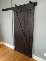We custom built a barn door for the entrance