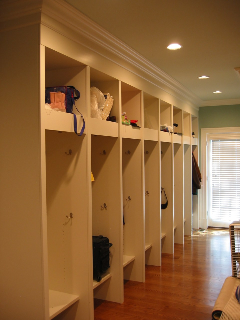 mudroom cabinetry hallway
