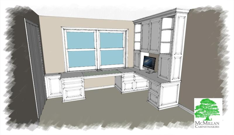 L-shaped home office