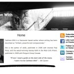 Screenshot of website for Cathleen With, author