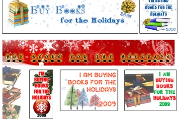 blog buttons for the Buy Books for the Holidays Challenge
