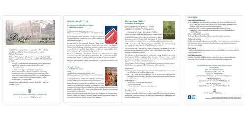 Passfield Press catalogue