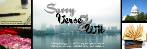 Blog banner for Savvy Verse & Wit