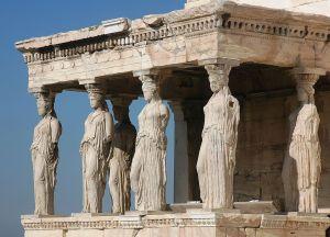Caryatids in Greece