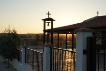 Ayia Marina church at sunset