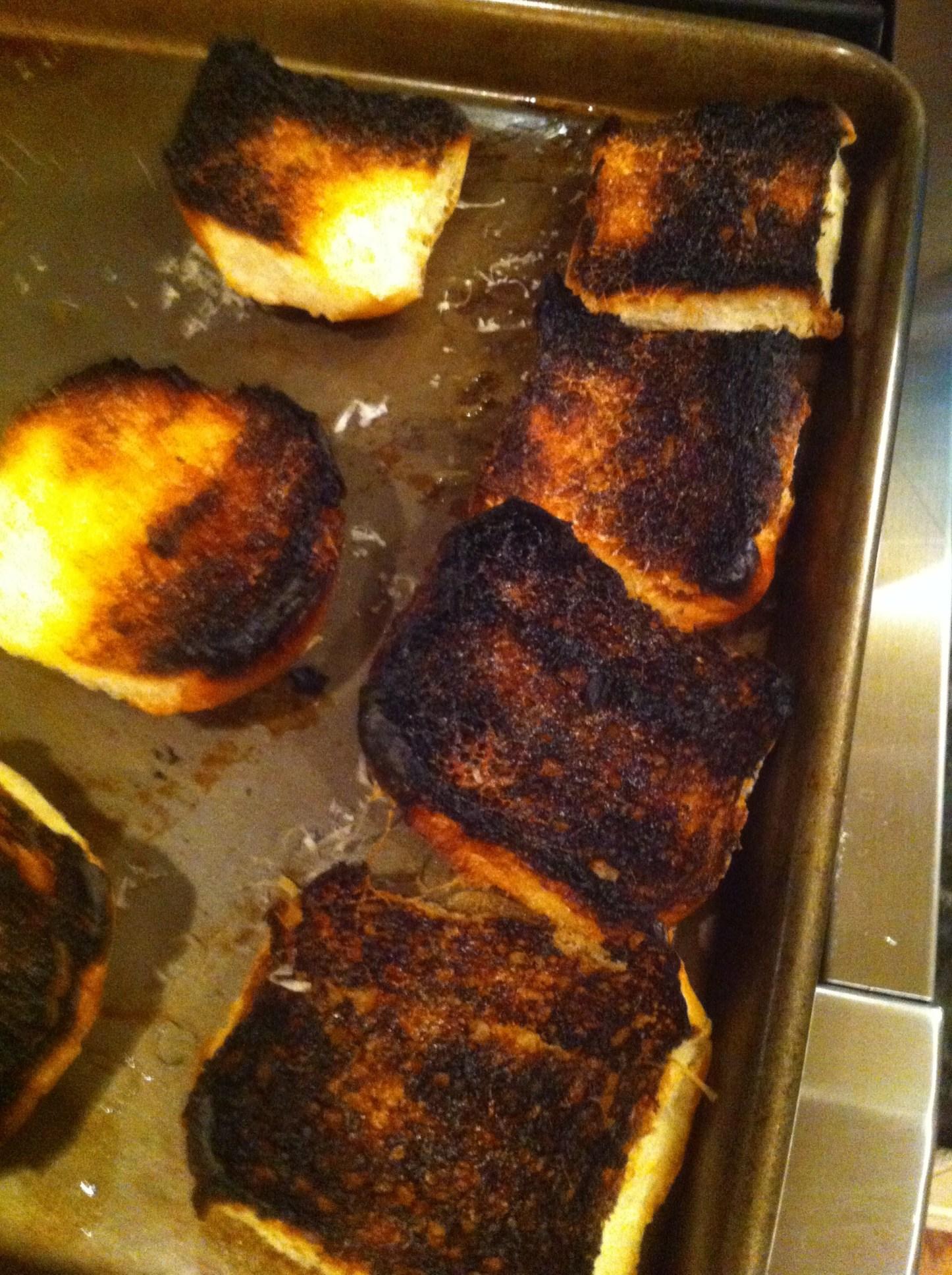 Oh crap! I burned the bread….again!