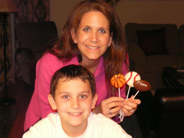 Chocolate Sport Lollipops