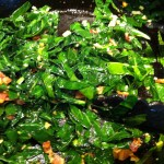 Sauteed Collard Greens with Garlic and Bacon (and how to prepare collard greens)